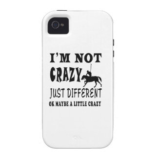 A Little Crazy for Horse Polo Vibe iPhone 4 Cover