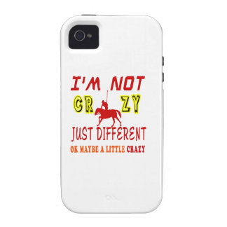 A Little Crazy for Horse Polo Case-Mate iPhone 4 Covers