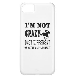 A Little Crazy for Horse Racing iPhone 5C Covers