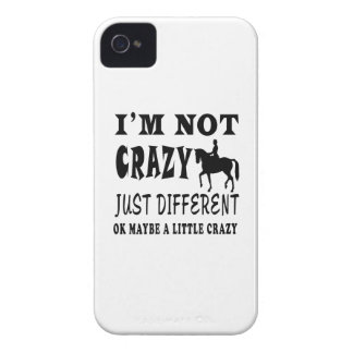 A Little Crazy for Horse Riding iPhone 4 Case-Mate Cases