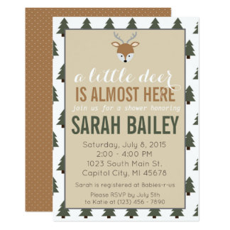 A Little Deer is Almost Here Baby Shower Invite