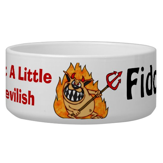A Little Devilish Customised Dog Bowls