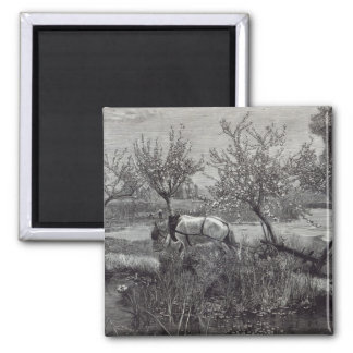 A little farm well tilled', Picardy Square Magnet