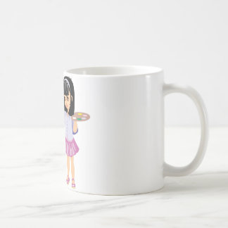 A Little Girl with a Paint Palette Basic White Mug