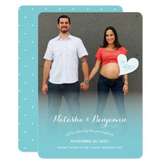 A Little Hello Blue Pregnancy Photo Announcement