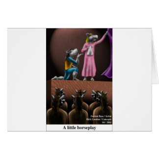 A Little Horse Play Funny Horse Cartoon Gifts Greeting Card
