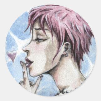 """""""A little kiss"""" sticker"""