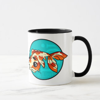 A LITTLE KOI FISH RINGER MUG