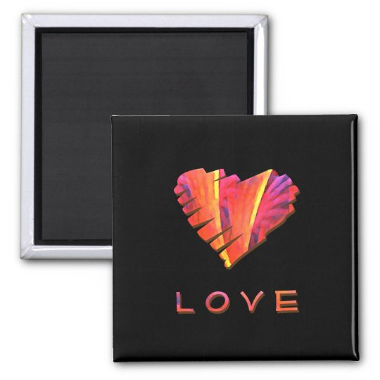A Little Love Square Magnet