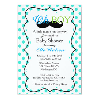 A Little Man is on the Way Baby Shower Invitations