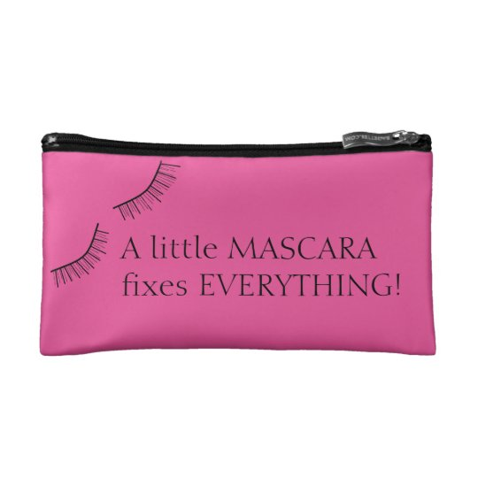 A Little Mascara Fixes Everything Cosmetic Bag