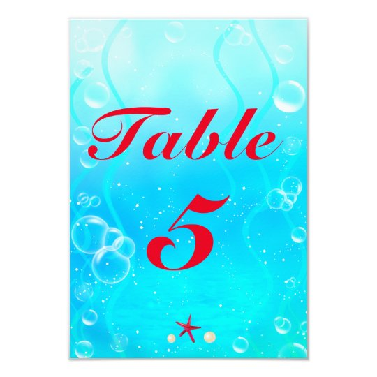 A little Mermaid Beach Sea Party Table Number