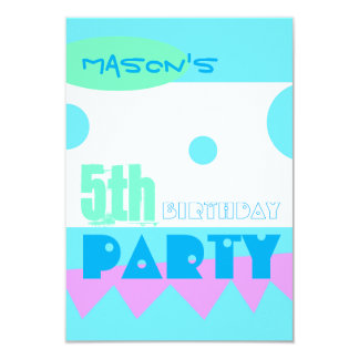 A Little Monster 5th Birthday Party Invitation
