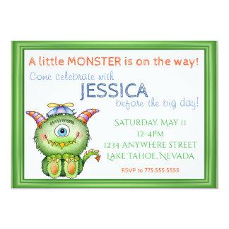 A little Monster Baby Shower Card