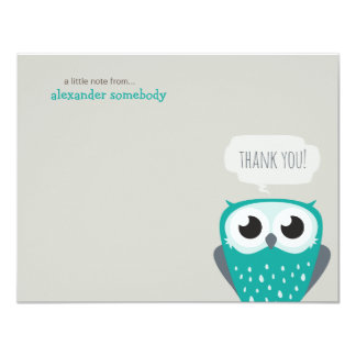 A Little Note Thank You Blue Owl Custom Invites