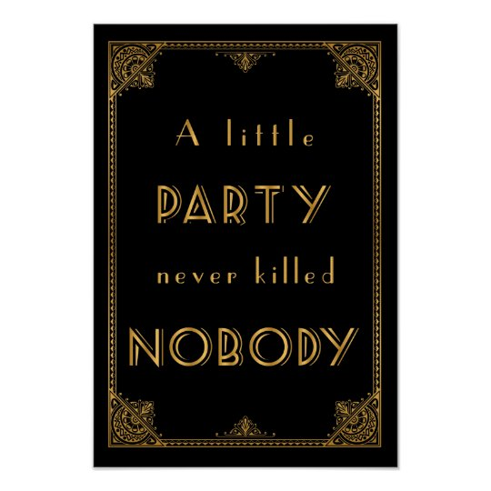 a little party gatsby inspired wedding sign poster