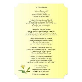 """""""A Little Prayer"""" Matte Rose Card"""