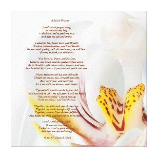 """A Little Prayer"" Orchid  24x24 Canvas Print"
