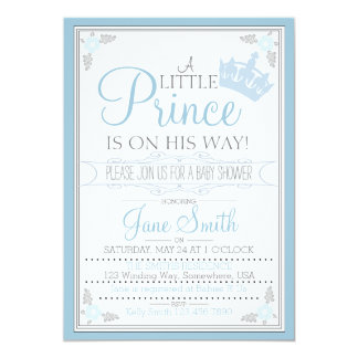 A Little Prince Is On His Way 13 Cm X 18 Cm Invitation Card