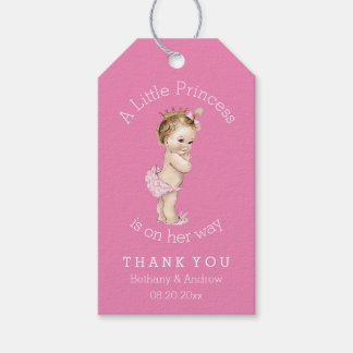 A Little Princess Baby Shower Pink Personalized Gift Tags