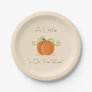 A Little Pumpkin Baby Shower Plates