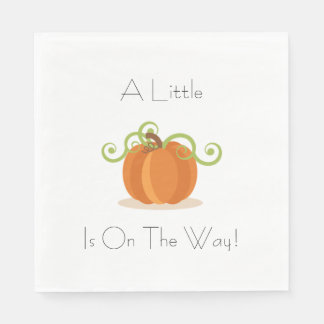 A Little Pumpkin Napkins Disposable Serviette