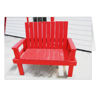A Little Red Bench Card