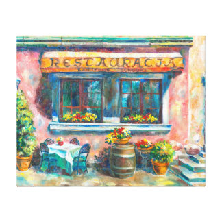 A little restaurant canvas print