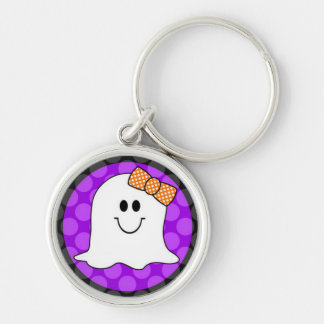 A Little Spooky Silver-Colored Round Key Ring