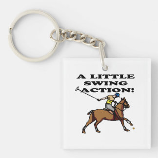 A Little Swing Action Double-Sided Square Acrylic Key Ring