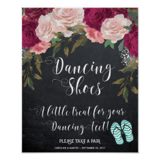 A little treat for your dancing feet sign poster