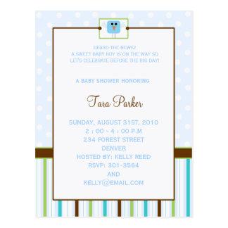 a little tweet -baby shower postcards