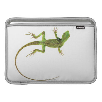 A lizard on pure white ground MacBook sleeve