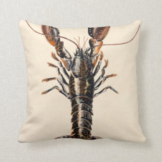 A Lobster from Solva Throw Pillow