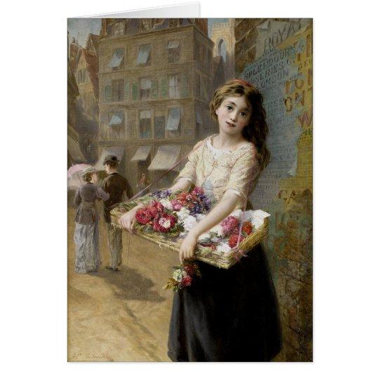 A London Flower Girl Card