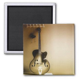 A Lone Guitar Refrigerator Magnet