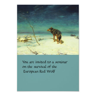 A Lone Wolf Samotny Wilk 13 Cm X 18 Cm Invitation Card