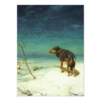 A Lone Wolf Samotny Wilk 14 Cm X 19 Cm Invitation Card