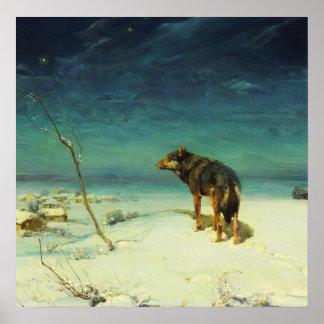 A Lone Wolf Samotny Wilk Poster