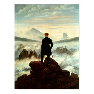 A Lonesome Hiker above the Clouds Postcard