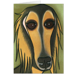 A Long Face by Robyn Feeley Greeting Card