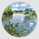 A Long Island Lake artwork Round Sticker