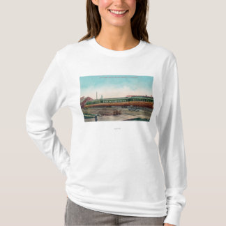A Long Tree Log on Railroad Tracks T-Shirt