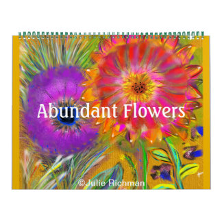 A Lot of Abundant Flowers Calendars