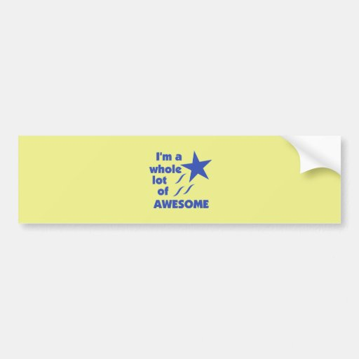 A Lot of Awesome - Yellow Background Bumper Stickers