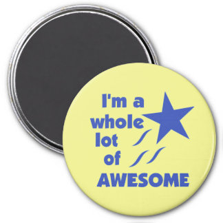 A Lot of Awesome - Yellow Background Fridge Magnets