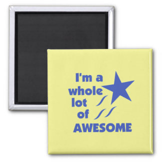 A Lot of Awesome - Yellow Background Refrigerator Magnet
