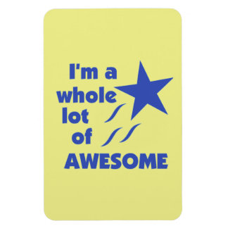 A Lot of Awesome - Yellow Background Rectangular Magnets