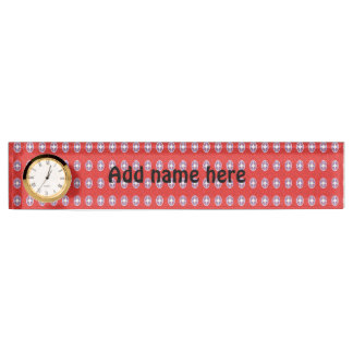 A lot of red abstract pattern name plate