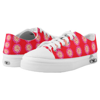 A lot of red trendy pattern low tops